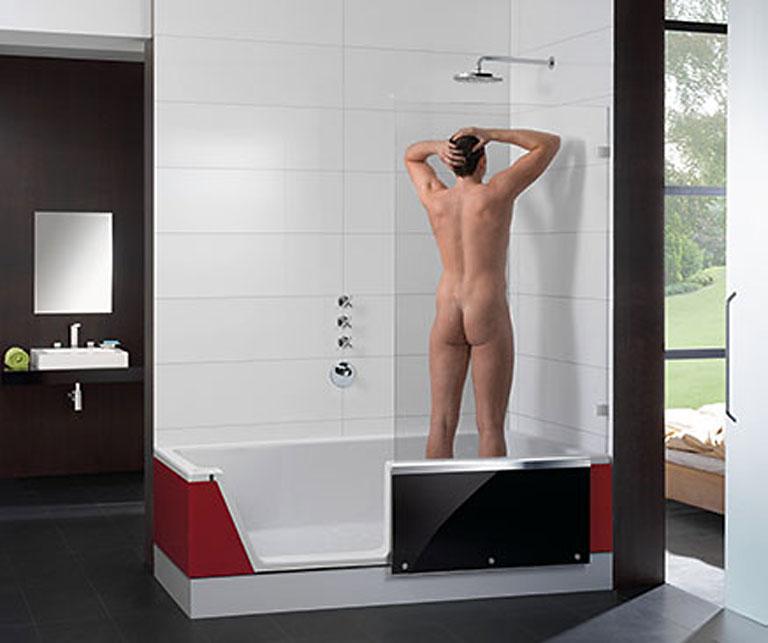 easy in die dusche zum baden sch ner wohnen. Black Bedroom Furniture Sets. Home Design Ideas