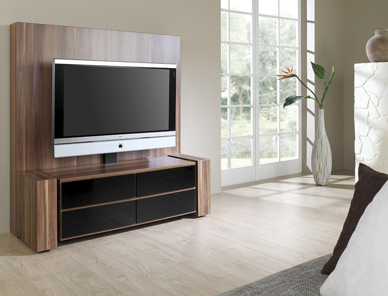 tv bank x linie von schnepel ob in der optik von olivenholz hochgl nzend in schwarz oder in der. Black Bedroom Furniture Sets. Home Design Ideas