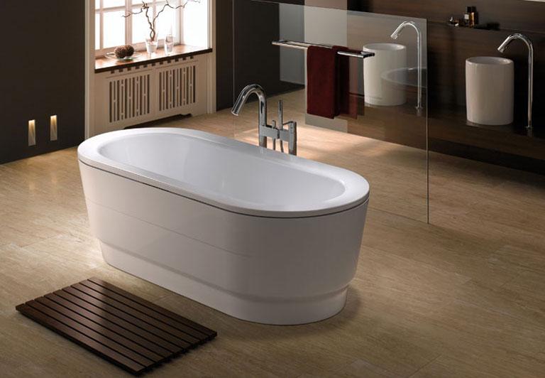 neue freistehende badewanne von kaldewei sch ner wohnen. Black Bedroom Furniture Sets. Home Design Ideas