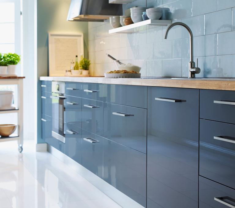 """Küche """"Abstrakt"""" von Ikea mit neuer Front - [SCHÖNER WOHNEN]"""