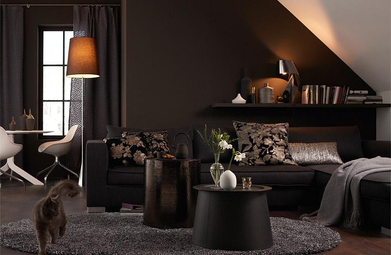 ... Mit Farben Einrichten Mit Winterfarben wohnzimmer farbe grau braun