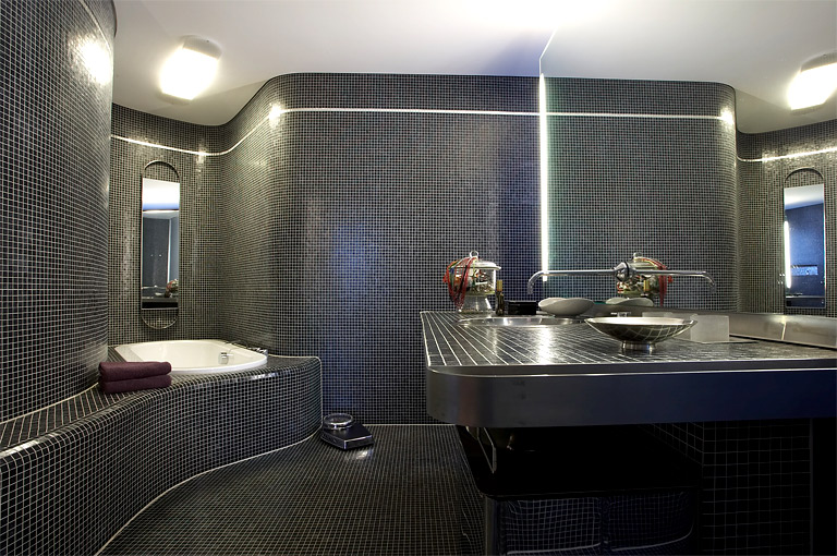 mosaikfliesen akzente in bad k che an wand und m beln sch ner wohnen. Black Bedroom Furniture Sets. Home Design Ideas