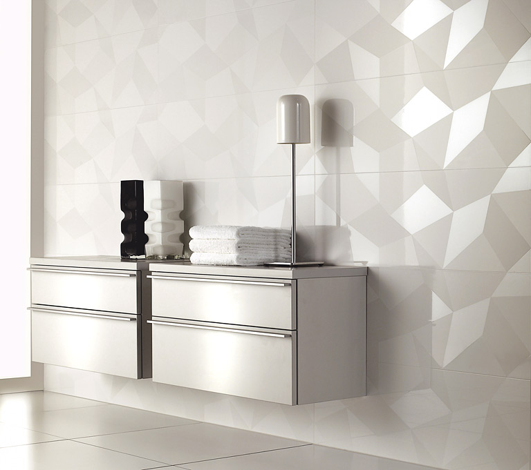 hochglanzfliese bianconero von villeroy boch bild 2 sch ner wohnen. Black Bedroom Furniture Sets. Home Design Ideas