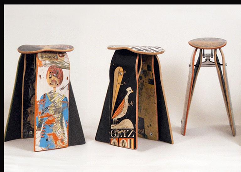 stuhl aus skateboard bei deckstool sch ner wohnen. Black Bedroom Furniture Sets. Home Design Ideas