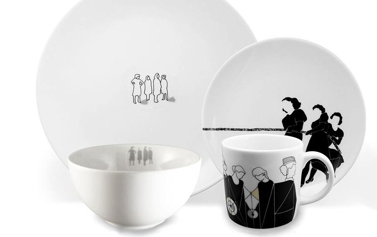 "Geschirr-Trends: Porzellan-Service ""Contrast"" von Culture Form | {Geschirr 73}"