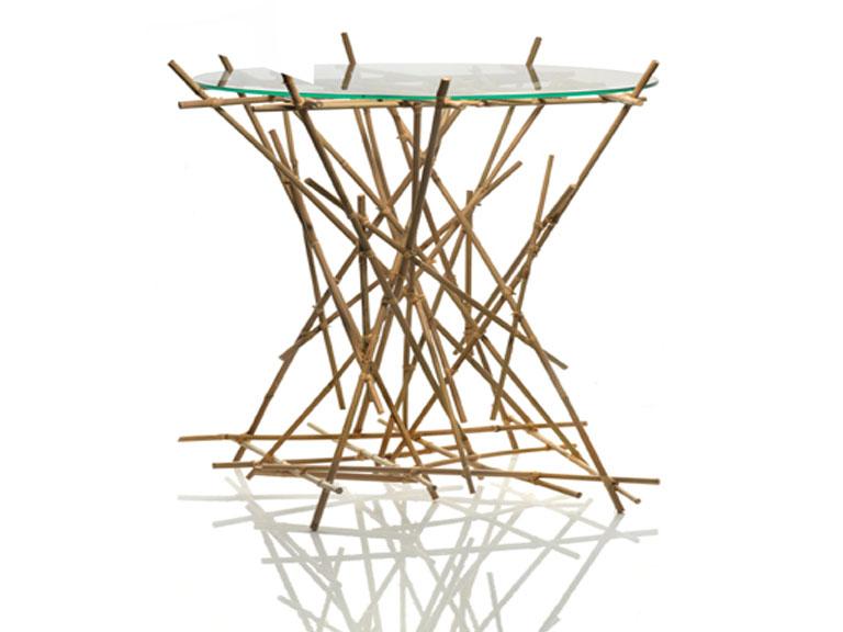 tisch blow up von alessi in bambus sch ner wohnen. Black Bedroom Furniture Sets. Home Design Ideas