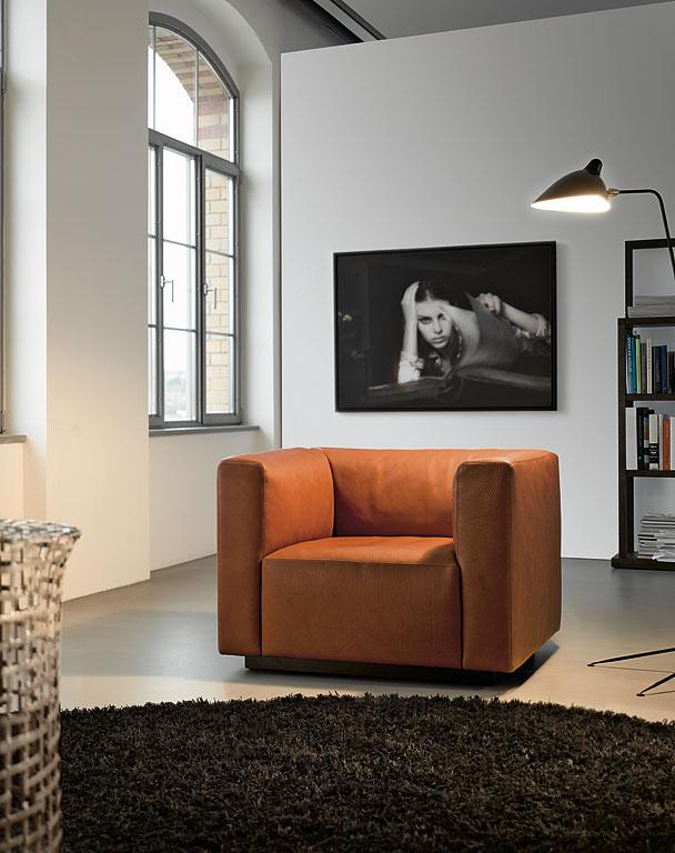 fotostrecke cognacfarbenes leder schafft behaglichkeit bild 5 sch ner wohnen. Black Bedroom Furniture Sets. Home Design Ideas