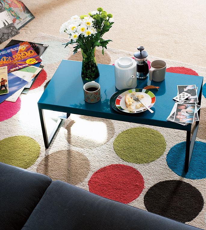 teppich mit punkten bettwasche 2017. Black Bedroom Furniture Sets. Home Design Ideas