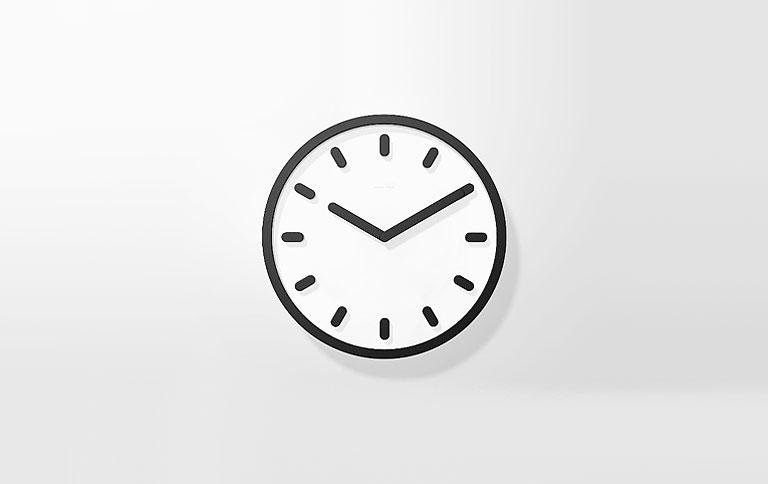 wanduhr wall clock von magis sch ner wohnen. Black Bedroom Furniture Sets. Home Design Ideas
