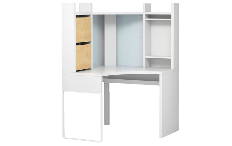 """Eck-Schreibtisch """"Micke"""" von Ikea - [SCHÖNER WOHNEN]"""
