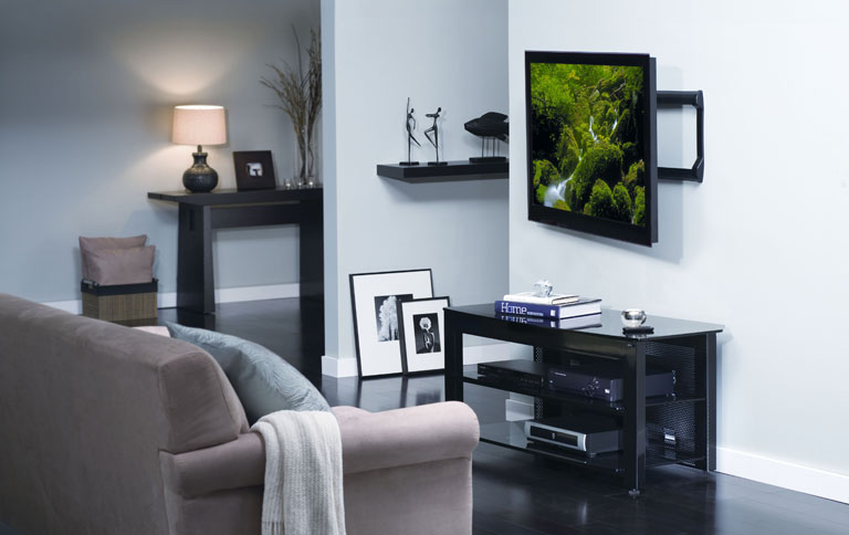 tv halterung vlmf109 von sanus mit motor sch ner wohnen. Black Bedroom Furniture Sets. Home Design Ideas