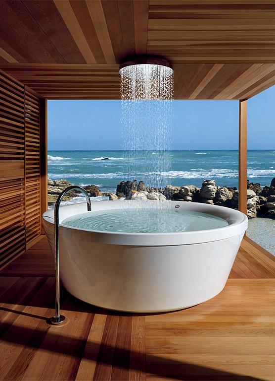 freistehende badewanne moderner luxus sch ner wohnen. Black Bedroom Furniture Sets. Home Design Ideas