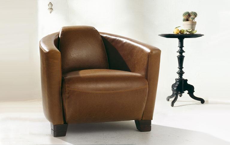 ledersessel im retrostil sch ner wohnen. Black Bedroom Furniture Sets. Home Design Ideas