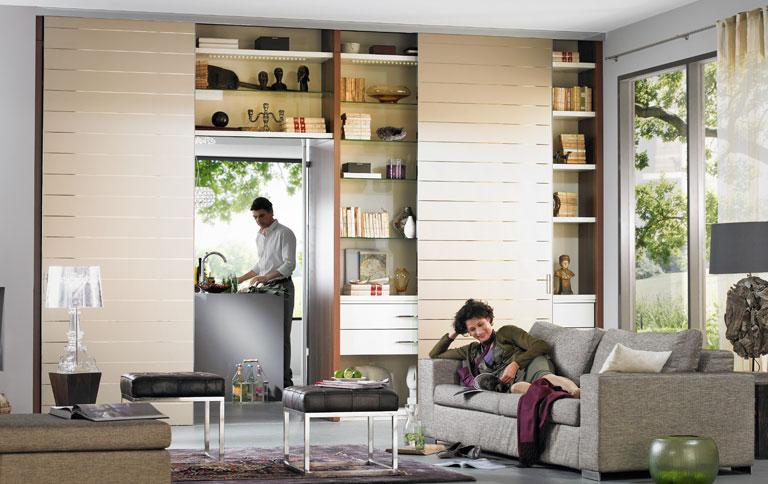 wohnwand als raumteiler sch ner wohnen. Black Bedroom Furniture Sets. Home Design Ideas