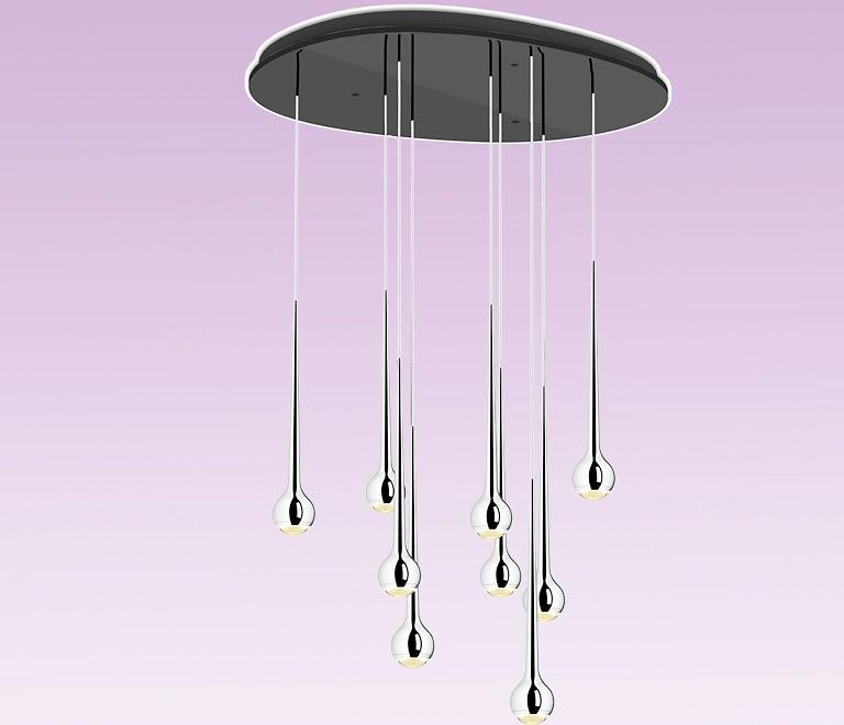 esstischleuchte falling water von tobias grau bild 36 sch ner wohnen. Black Bedroom Furniture Sets. Home Design Ideas