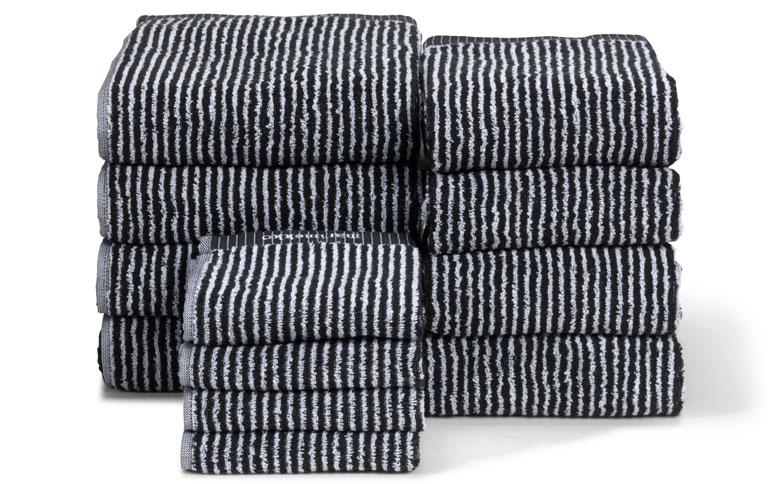 Handtücher in Schwarz-Weiß von Marimekko - [SCHÖNER WOHNEN]