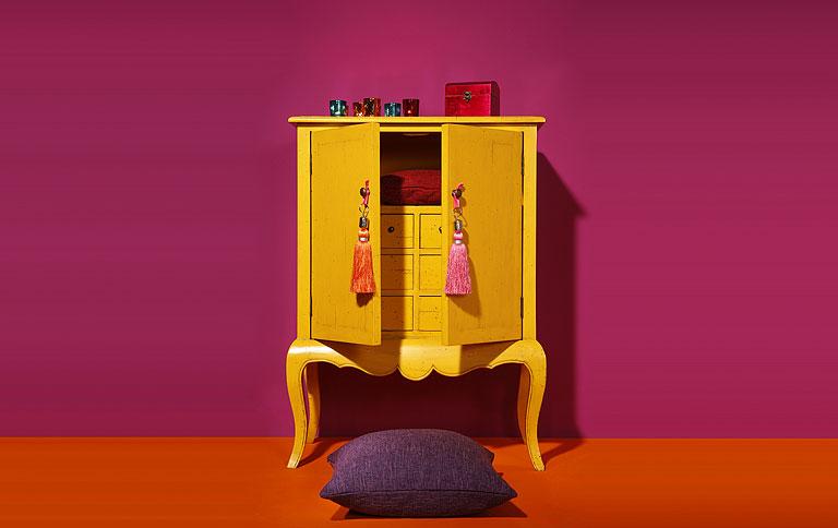 orientalischer schrank bei strauss innovation sch ner wohnen. Black Bedroom Furniture Sets. Home Design Ideas