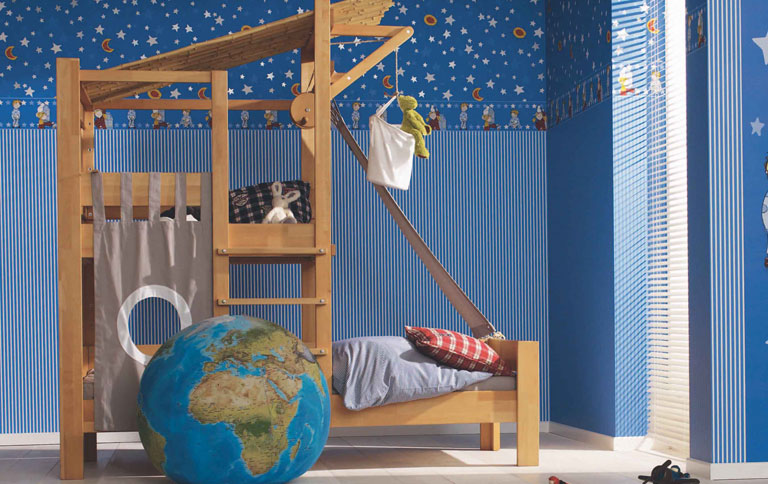 neue tapeten f rs kinderzimmer sch ner wohnen. Black Bedroom Furniture Sets. Home Design Ideas