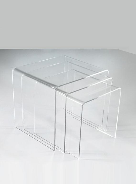 Möbel: Transparenter Dreisatztisch von Ikarus - Bild 8