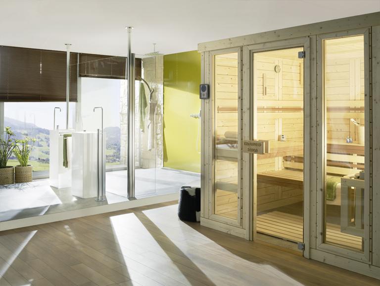 fotostrecke leicht und modern helo sauna finesse von demmelhuber bild 2 sch ner wohnen. Black Bedroom Furniture Sets. Home Design Ideas
