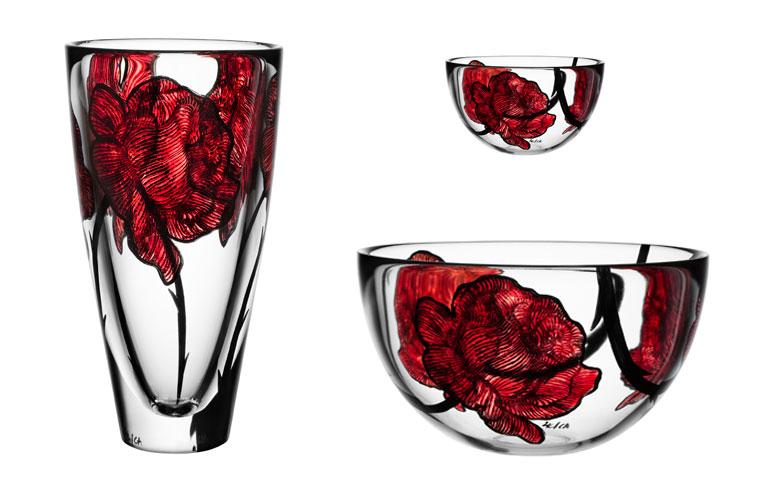 rosenromantik auf vasen sch ner wohnen. Black Bedroom Furniture Sets. Home Design Ideas