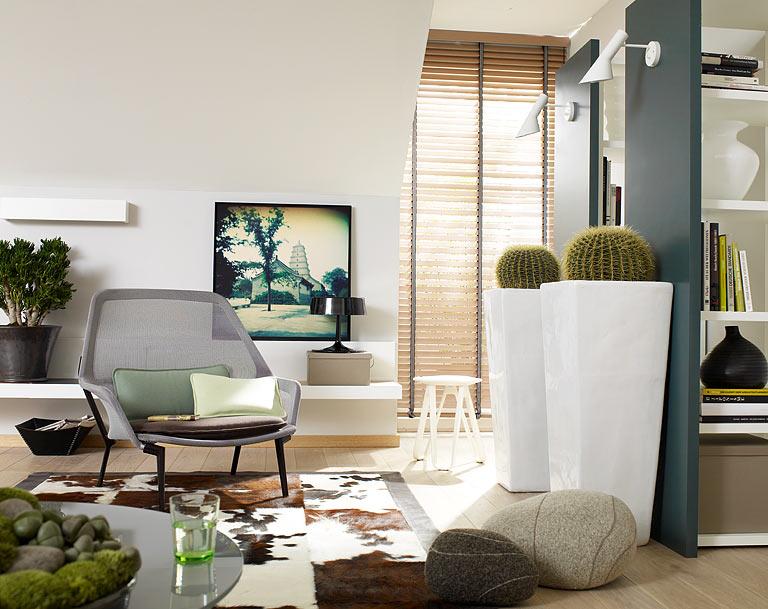 20 deko tipps einrichten mit frischem gr n bild 8 sch ner wohnen. Black Bedroom Furniture Sets. Home Design Ideas