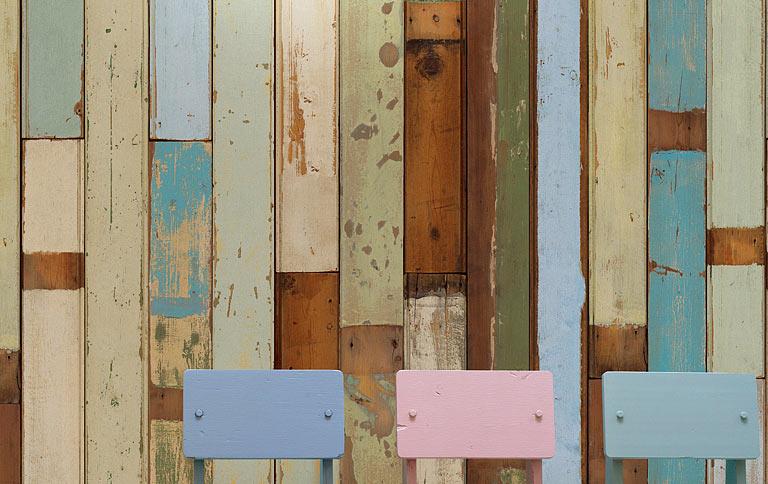 planken tapete von piet hein eek sch ner wohnen. Black Bedroom Furniture Sets. Home Design Ideas