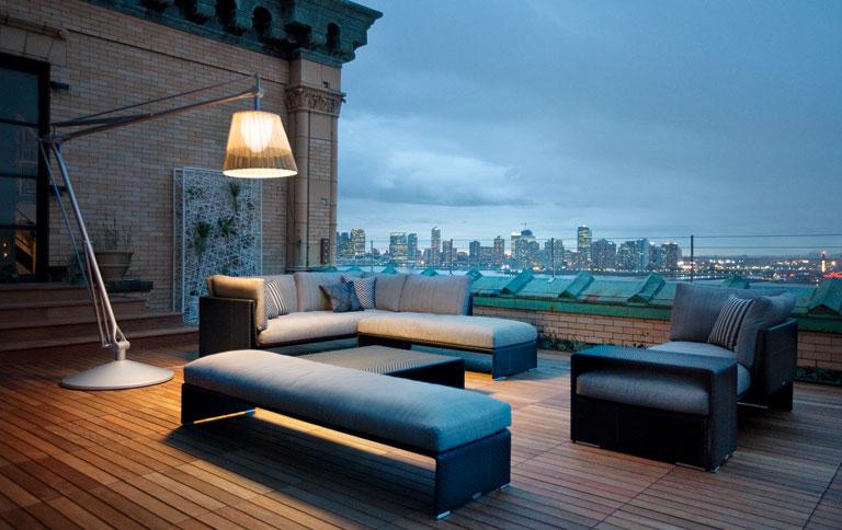 riesenstandleuchte f r drau en sch ner wohnen. Black Bedroom Furniture Sets. Home Design Ideas