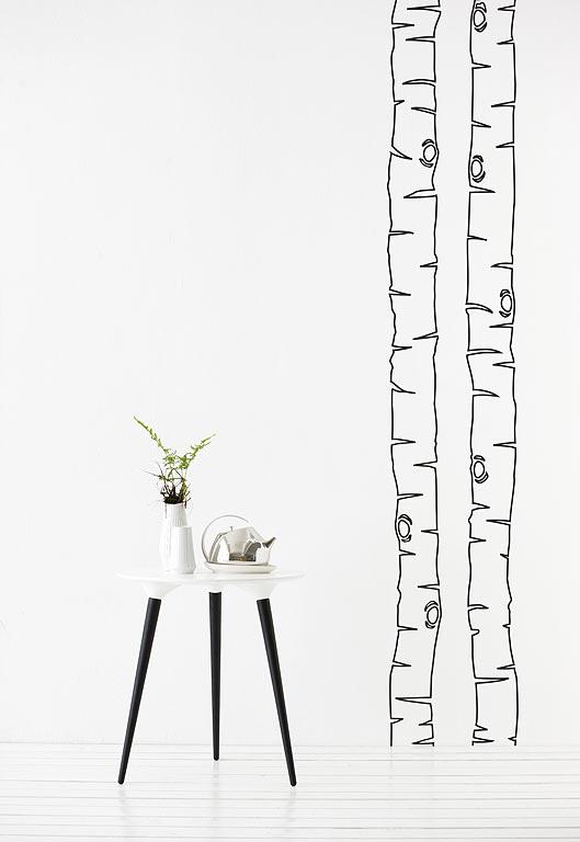birkenstamm als wandtattoo birch von ferm living bild 8 sch ner wohnen. Black Bedroom Furniture Sets. Home Design Ideas