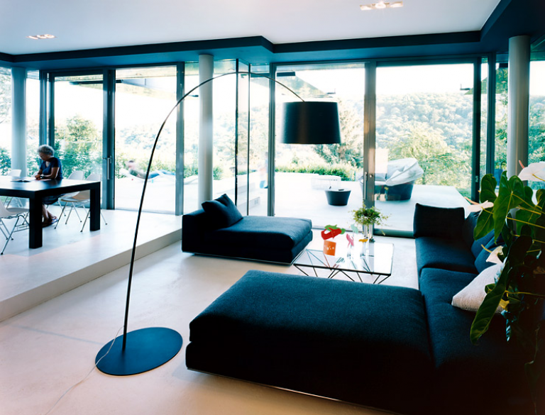 Stilmix in einer ehemaligen orangerie wohnzimmer in for Wohnzimmer architektur