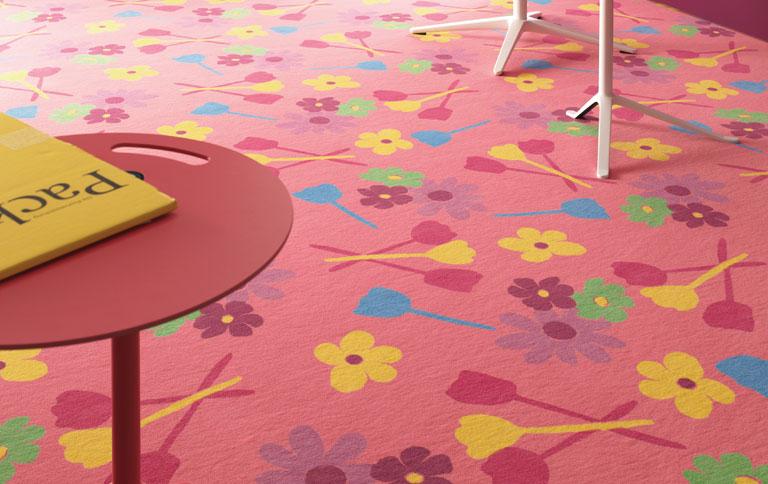 Teppichboden kinderzimmer vorwerk  Vorwerk-Teppich mit Kunstwerken - [SCHÖNER WOHNEN]
