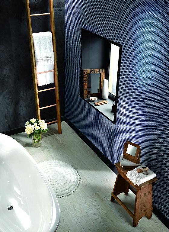 schieferoptik im g ste wc fliesen akzente im badezimmer 8 sch ner wohnen. Black Bedroom Furniture Sets. Home Design Ideas