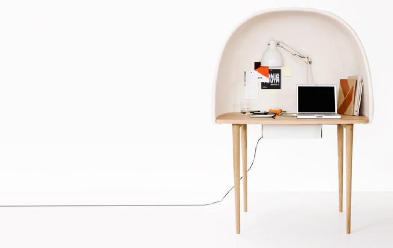 schreibtisch als kokon tipp des tages sch ner wohnen. Black Bedroom Furniture Sets. Home Design Ideas