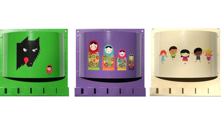 Kindergarderoben aus aluminium sch ner wohnen for Garderobe kinder