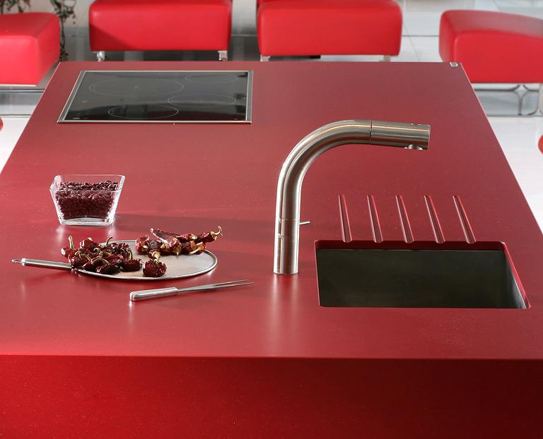 fotostrecke: starkes rot: arbeitsplatte von cosentino - bild 2, Moderne deko