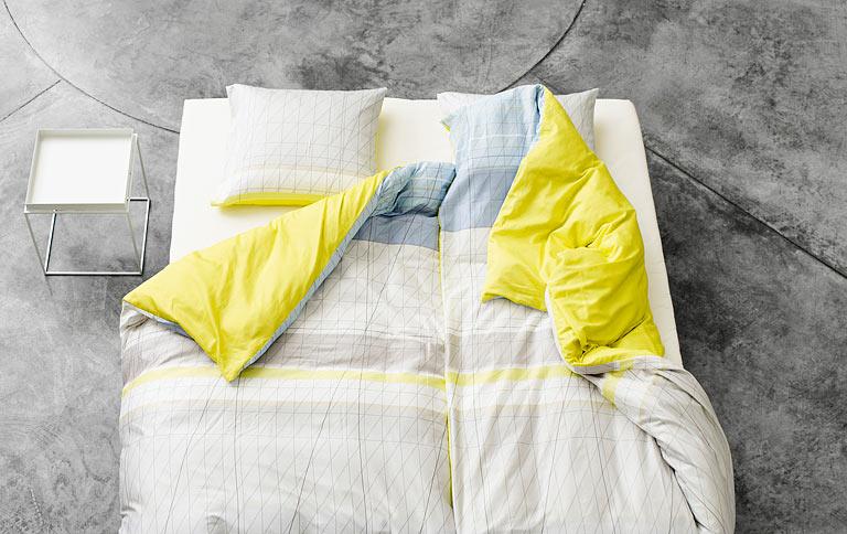 bettw sche mit grafischen mustern tipp des tages sch ner wohnen. Black Bedroom Furniture Sets. Home Design Ideas