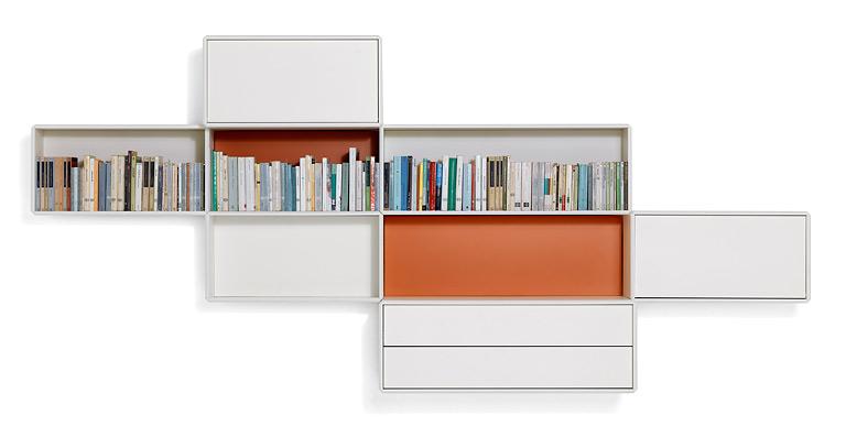 Geschlossene Bücherregale containersystem alternata de bild 45 schöner wohnen