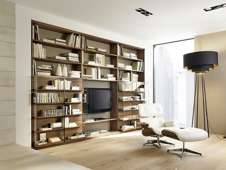 Wohnwand design holz  Die moderne Wohnwand - [SCHÖNER WOHNEN]