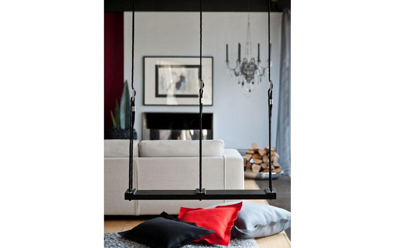 schaukel f rs wohnzimmer sch ner wohnen. Black Bedroom Furniture Sets. Home Design Ideas