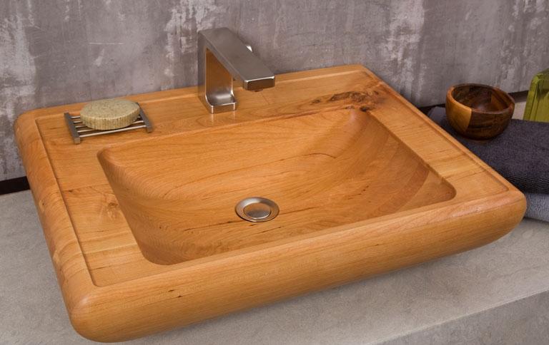 waschbecken in kirsche sch ner wohnen. Black Bedroom Furniture Sets. Home Design Ideas