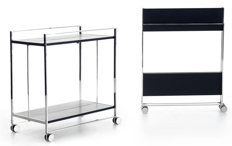servierwagen mit filigranen beinen sch ner wohnen. Black Bedroom Furniture Sets. Home Design Ideas