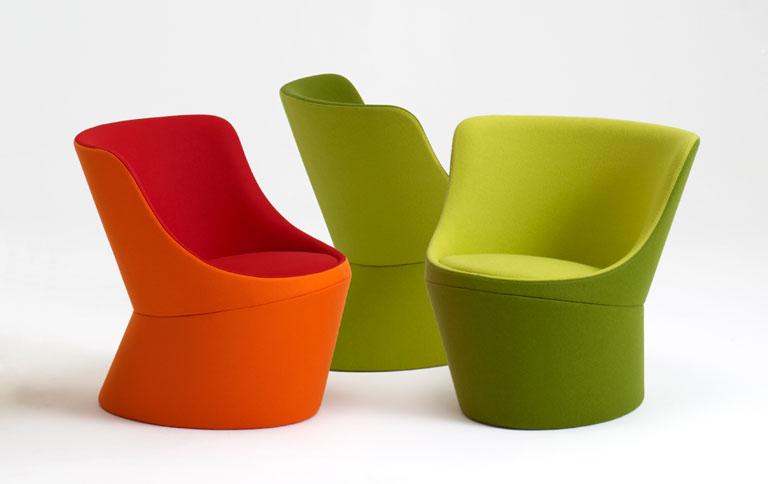 lounge sessel in orange und gr n sch ner wohnen. Black Bedroom Furniture Sets. Home Design Ideas