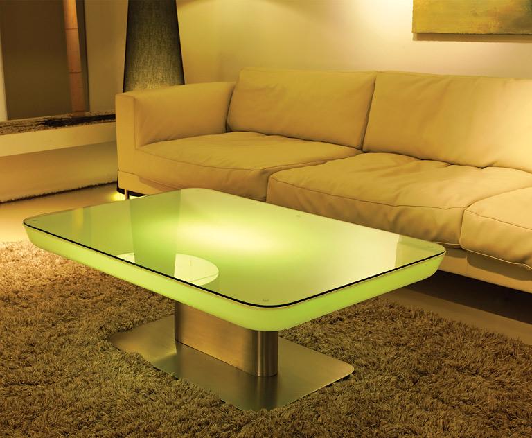 Möbel mit LED-Beleuchtung: Couchtisch \
