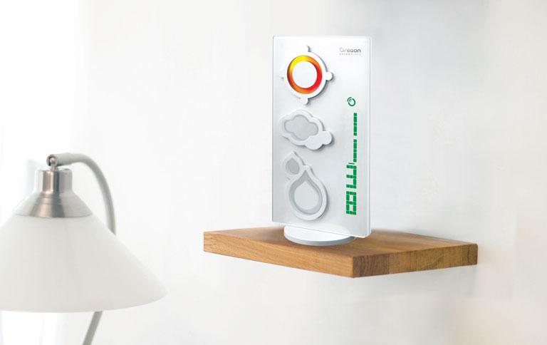 wetterstation mit led farbbeleuchtung sch ner wohnen. Black Bedroom Furniture Sets. Home Design Ideas