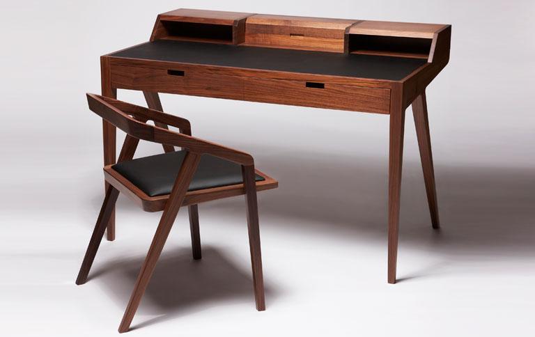 Graziler Schreibtisch Aus Edlen H 246 Lzern Sch 214 Ner Wohnen