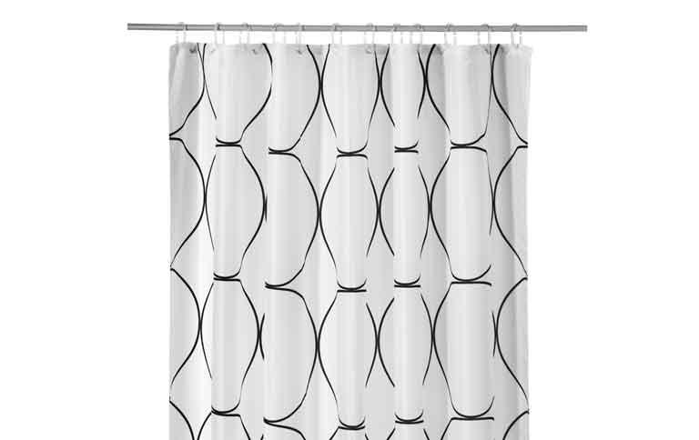 duschvorhang uddgrund von ikea mit gummiband news. Black Bedroom Furniture Sets. Home Design Ideas