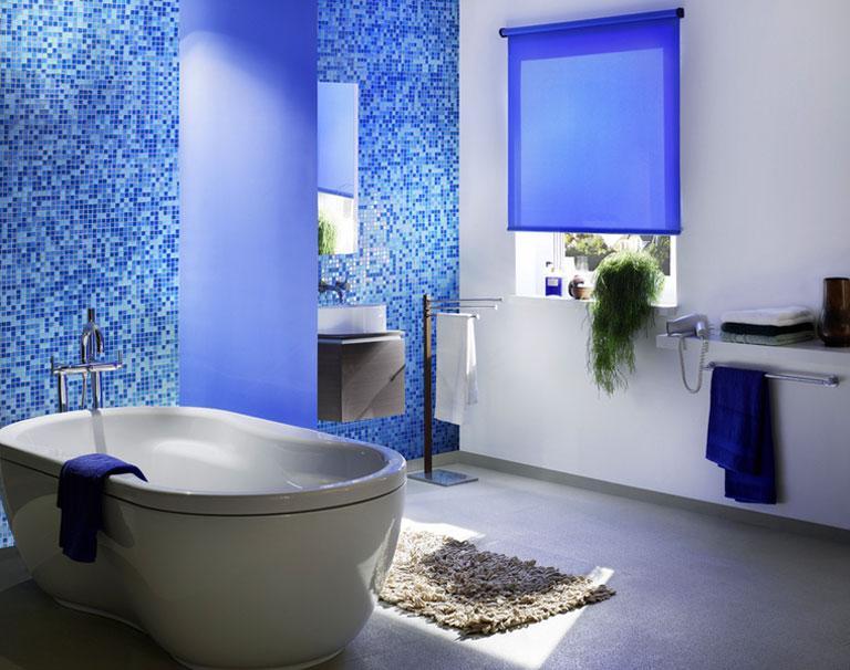 badezimmerrollo aqua von kadeco bild 7 sch ner wohnen. Black Bedroom Furniture Sets. Home Design Ideas