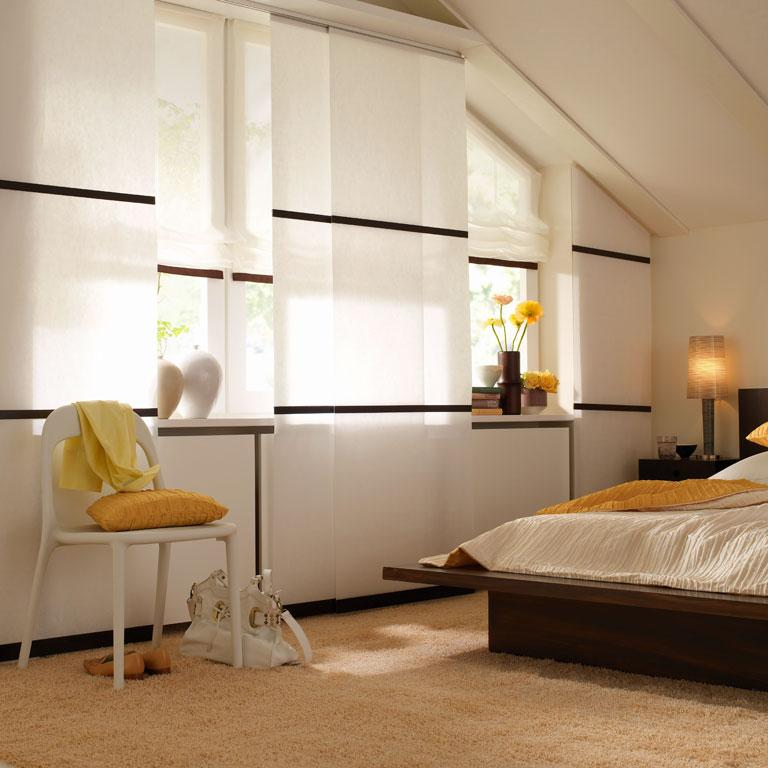 schiebegardine vista von woodnotes fensterdeko mit schiebegardinen 3 sch ner wohnen. Black Bedroom Furniture Sets. Home Design Ideas