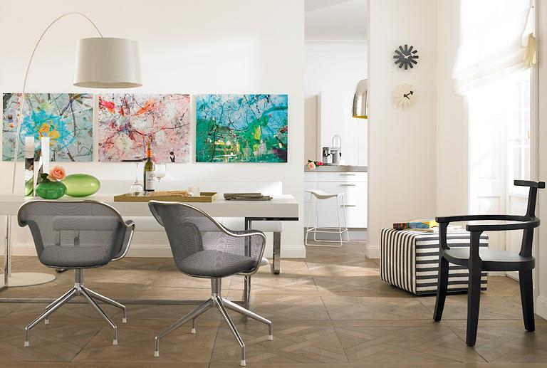 wanddekoration reihenh ngung alles in einer linie bild 4 sch ner wohnen. Black Bedroom Furniture Sets. Home Design Ideas