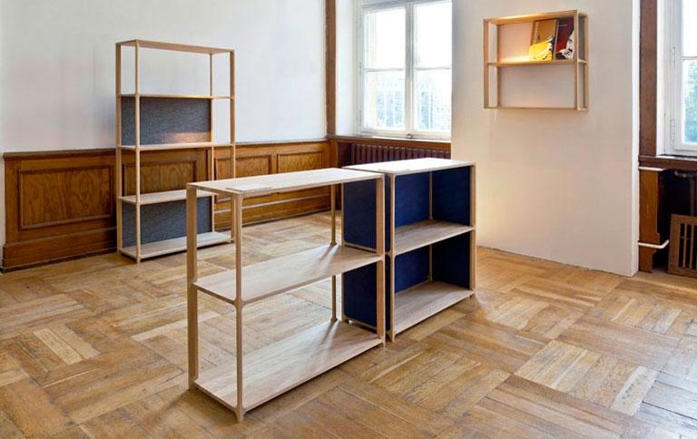 holzregal als raumteiler sch ner wohnen. Black Bedroom Furniture Sets. Home Design Ideas